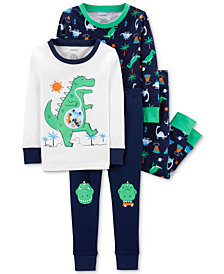 Carter's Toddler Boys 4-Pc. Dinosaur Cotton Pajamas
