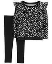 33be9973bdd Carter s Toddler Girls 2-Pc. Floral-Print Top   Leggings Set