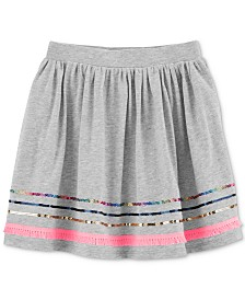 Carter's Little Girls Embroidered Cotton Skirt