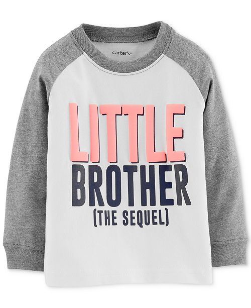 Carter's Baby Boys Little Brother Graphic Cotton T-Shirt