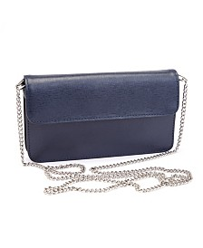 Royce Chic RFID Blocking Women's Wristlet Convertible Cross Body Bag in Genuine Leather