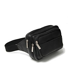 Royce Multi Compartment Fanny Pack in Colombian Genuine Leather