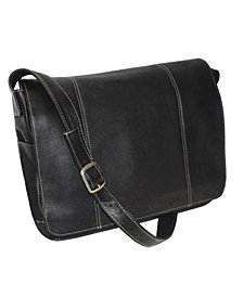 "Royce 13"" Laptop Messenger Bag in Colombian Genuine Leather"