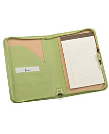 Royce Zippered Compact Writing Portfolio Organizer in Genuine Leather