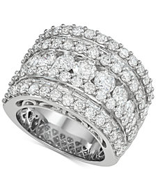 Diamond Five Row Band (5 ct. t.w.) in 14k White Gold