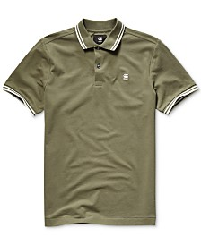 G-Star RAW Men's Dunda Straight-Fit Performance Stretch Tipped Polo