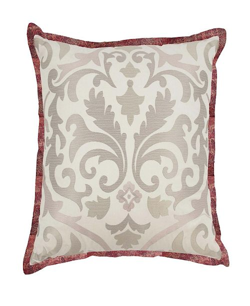 Waverly Fresco Flourish Embroidered Decorative Pillow