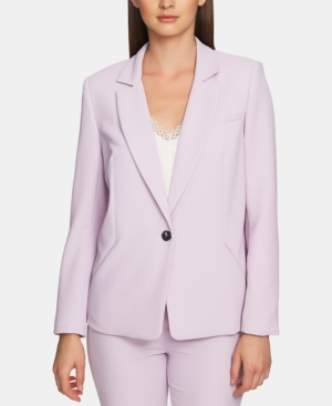 1.state Blazers TEXTURED-CREPE ONE-BUTTON BLAZER