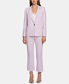 1.State Textured Crepe Blazer & Pants