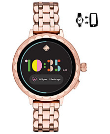kate spade new york Women's Scallop Rose Gold-Tone Stainless Steel Touchscreen Smart Watch 41mm