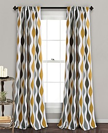 "Mid Century Geo 52"" x 84"" Curtain Set"