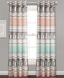 "Llama Stripe 52"" x 84"" Curtain Set"