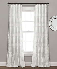 "Nova Ruffle Window Curtain Panels Set, 84"" x 42"""