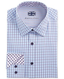 of London Men's Slim-Fit Multi Check Dress Shirt