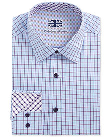 Michelsons of London Men's Slim-Fit Performance Multi Check Dress Shirt