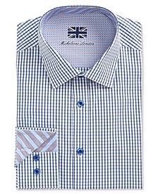 of London Men's Slim-Fit Check Dress Shirt