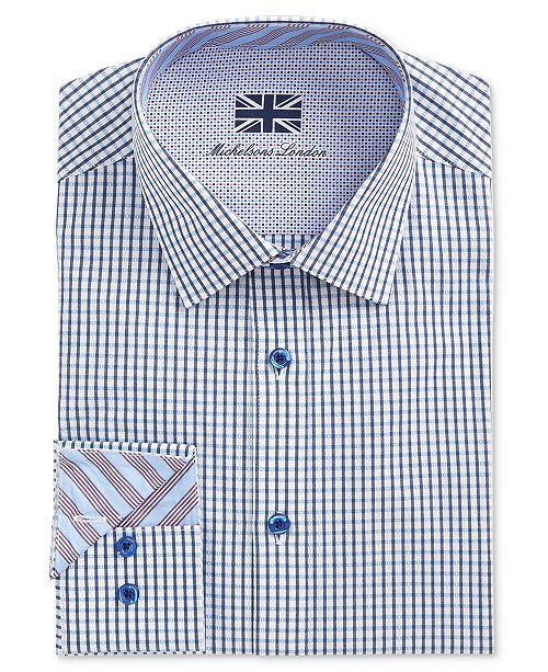 Michelsons of London Men's Slim-Fit Check Dress Shirt