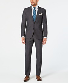 HUGO Men's Modern-Fit Dark Charcoal Suit Separates