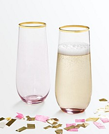 Set of 2 Stemless Flutes, Created for Macy's