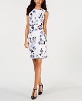 619f9d05607 Calvin Klein Printed Sleeveless Sheath Dress