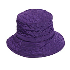 Scala Quilted Big Brim Rain Hat