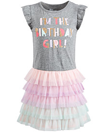 Epic Threads Little Girls Birthday Girl Dress, Created for Macy's