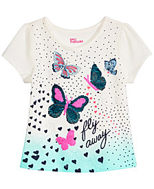 Epic Threads Toddler & Little Girls Flip Sequins Butterfly-Print T-Shirt, Created for Macy's