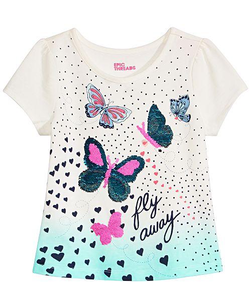 22f3d0ea4d2c ... Epic Threads Toddler   Little Girls Flip Sequins Butterfly-Print  T-Shirt