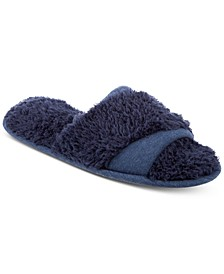 Linely Jersey & Chenille Slide Slippers