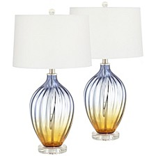 North Glass Multicolor Table Lamps - Set of 2