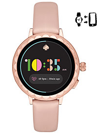 kate spade new york Women's Scallop Blush Leather Touchscreen Smart Watch 41mm