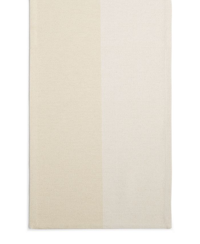 Martha Stewart Collection - White Color Block Runner