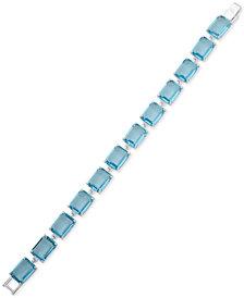 Lauren Ralph Lauren Silver-Tone Crystal Flex Bracelet