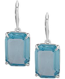 Lauren Ralph Lauren Silver-Tone Crystal Drop Earrings