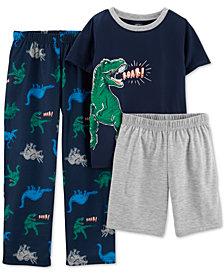 Carter's Little & Big Boys 3-Pc. Dinosaur Pajamas Set
