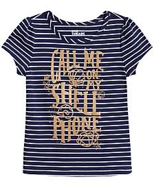 Epic Threads Little Girls Striped Graphic-Print T-Shirt, Created for Macy's