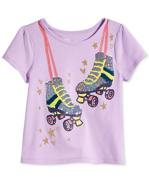 617c7f2f ... Epic Threads Toddler & Little Girls Flip Sequins Roller Skates T-Shirt,  Created for ...