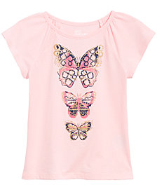 Epic Threads Little Girls Butterfly-Print T-Shirt, Created for Macy's