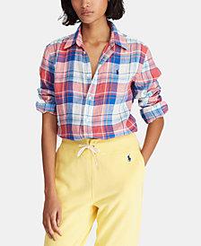 Polo Ralph Lauren Relaxed Fit Plaid Linen Shirt