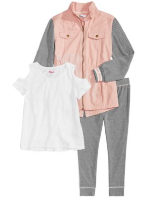 Big Girls Colorblocked Anorak Jacket, Created for Macy's