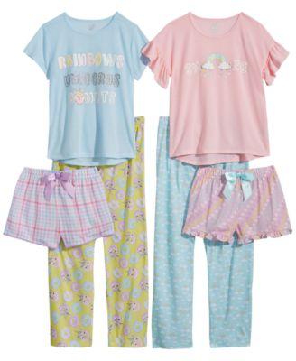 Big Girls Printed Pajama Shorts, Created for Macy's