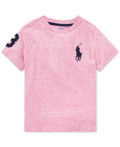aac8c0884 Polo Ralph Lauren Toddler Boys Jersey Crewneck T-Shirt - Shirts ...