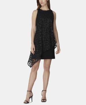 Tahari Asl Dresses 3D FLORAL-OVERLAY SHEATH DRESS
