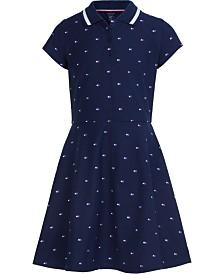 Tommy Hilfiger Big Girls Logo-Print Polo Dress