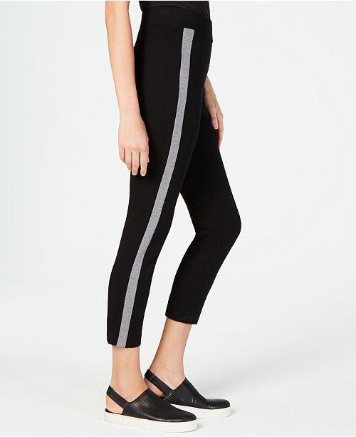 6aad95dc2d3cf Eileen Fisher Side-Stripe Slim Pants & Reviews - Jeans - Women ...