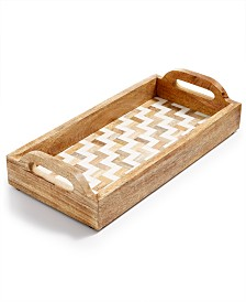 Home Essentials Congo Sunset Tile & Wood Tray