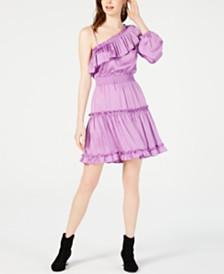 Bar III One-Shoulder Ruffled Dress, Created for Macy's