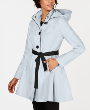 Laundry By Shelli Segal Coats LAUNDRY BY SHELLI SEGAL SKIRTED WATER RESISTANT HOODED TRENCH COAT