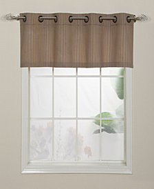 Armant Grommet Top Curtain Valance, Gold, 54 x 18""