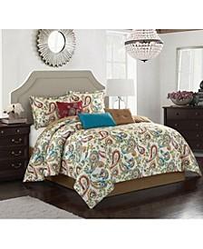 Autumn Paisley 7-Piece King Comforter Set